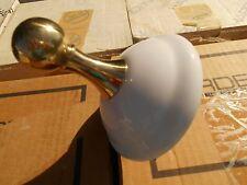 NOS HARDEN Heavy Solid Brass & White Porcelain Robe Hook ( Pair )