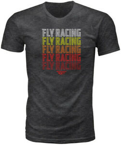 MENS FLY RACING NOSTALGIA TEE T-SHIRT M L XL GREY HEATHER