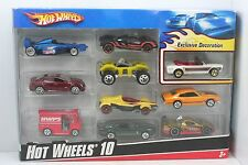 2009 Hot Wheels 10 Pack - NIB - New - Exclusive Decoration