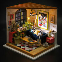 Rolife Living Room Miniature Dollhouse with Funiture Modern DIY Doll House Toy