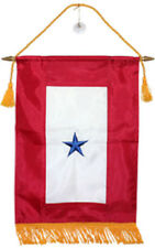 """12x18 Embroidered One Star Blue Military Service 300D Nylon Flag 12""""x18"""" Banner"""