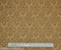 1/2 yard cotton fabric golden light brown damask Wilmington Prints home decor