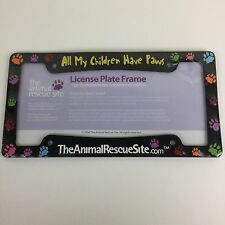All My Children Have Paws License Plate Frame Animal Rescue Site V3