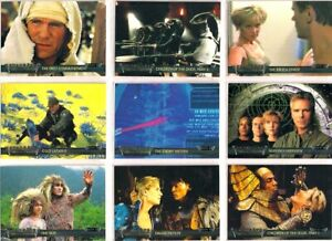 2001 STARGATE SG-1 PREMIERE EDITION COMPLETE BASIC TRADING CARD SET (TV SHOW)