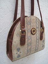 -AUTHENTIQUE sac à main  GUY LAROCHE   toile et cuir  TBEG vintage bag