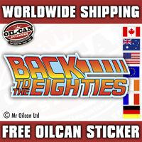 Back to the eighties car sticker, retro dub  sticker 150 x 50mm