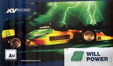 2008 Will Power Aussie Vineyards Honda Dallara Indy Car postcard