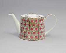 9952261 Porzellan Tee-Kanne Kreise grau-rosa Jameson&Tailor 1,2l H12cm