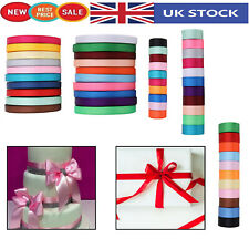 300m Satin Ribbon Reels Double Sided Faced 10mm 25mm or 40mm for Gift Wrapping