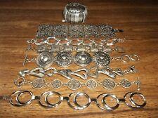 Fabulous vintage lot chunky silver tone bracelets Aldo Celebrity Chico's