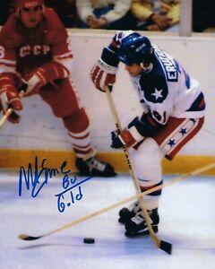 GFA 1980 Miracle on Ice Captain MIKE ERUZIONE Signed 8x10 Photo M8 COA