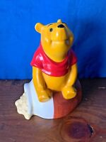 Vintage 1988 Walt Disney Store WINNIE THE POOH and HONEY POT Coin Bank 7/5 ❤️m9