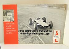 Genuine 1960's BSM Jim Clark F1 / Learner Driver Advertising Poster Sign