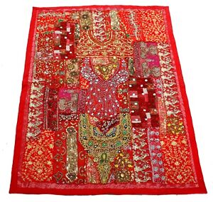 Handmade Vintage Tapestry Embroidered Patchwork Banjara Wall Hanging,Beaded Work