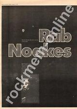 Rab Noakes Warner Brothers MM3 LP advert 1973