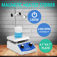 SH-2 MAGNETIC STIRRER HOT PLATE DUAL CONTROLS HEATING PLATE STIR BAR LABORATORY