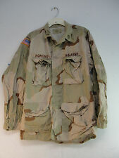 US MILITARY ARMY FIELD SHIRT JACKET COAT COMBAT DESERT CAMOUFLAGE CAMO MED-LONG
