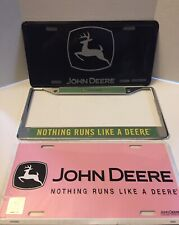John Deere License Plate Covers.New. Lot Of Three