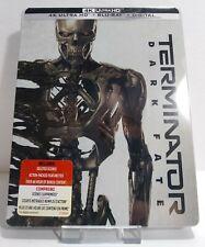 Terminator Dark Fate Steelbook 4K Ultra HD + Blu-Ray + Digital Limited Edit. NEW