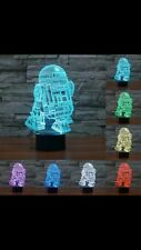 *R2D2 3D Lamp* Changes Colour, USB Operated- Great Gift For Star Wars Fan!