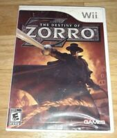 THE DESTINY OF ZORRO - Wii - COMPLETE WITH MANUAL - FREE S/H - (HH)