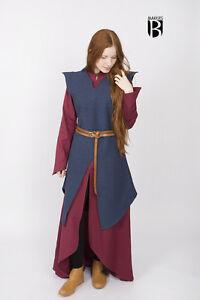 Medieval Tunic Eryn Women Elf Warrior /Larp - Blue By Burgschneider