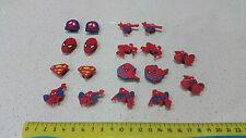 18 pces Spiderman Superman shoe charm party favours loom band decorations