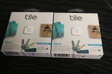 Tile Mate 150 ft. Item Tracker (2 PACK) White MODEL T5001 NEW SEALED PACKAGE!