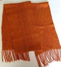 Joanne New Zealand Handwoven Rusty Orange Women's Mens Scarf Merino Possum Wool