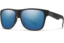 NEW Smith Lowdown XL Sunglasses-Matte Black Salty Crew-Chromapop Blue Polarized!