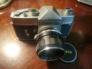 Tower 32A 35mm SLR Film Camera with Mamiya-Sekor f=58mm 1.7 lens For Parts