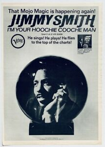 JIMMY SMITH 1966 vintage POSTER ADVERT YOUR HOOCHIE COOCHE MAN Verve