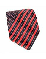 Lanvin Tie Silk Regimental Pinstripe Vintage Blue Red
