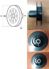 Disco de persiana de 123mm, para cinta de 14, con rodamiento, polea, blind.