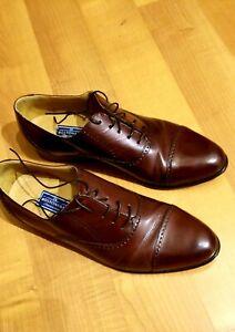 Bostonian Impression USA Burgundy Leather Cap Toe Oxfords Shoes Men's 11.5D