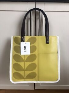 Orla Kiely Printed Stem Leather Willow Tote Bag BNWT