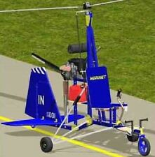 Hornet Midwest USA Autogyro Helicopter Wood Model Replica Small Free Shipping