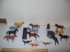 1/32 NEW  Horse Herd set includes 16 Horse Herd.Feed Bunk & Round Water tank