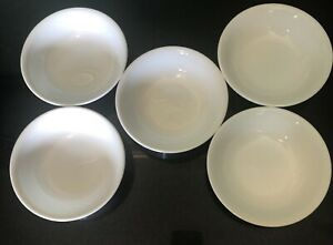 Corelle Vitrelle By Corning 5 Solid White Small Fruit Dessert Bowl