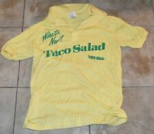 Vintage 1984 TACO BELL Employee Promo Golf Shirt Collared WHAT'S NEW? TACO SALAD
