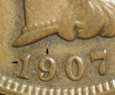 BU UNC MS 1907 19/19 Indian Head Cent Snow 3 S3 RPD Mint Error *** 3 star n09