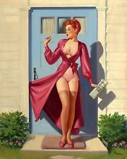 VINTAGE PIN UP GIRL RETRO 1950's STYLE Image A4 Poster Gloss Print Laminated