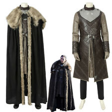 Game of Thrones Season 8 Jon Snow Cosplay Costume with Cloak