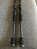 "(Set Of 2) Abu Garcia SILVER MAX 6'6"" 2-pc Medium Action Spinning Rods"