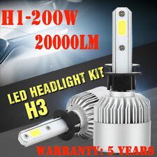 2X H3 72W 8000LM LED Headlight Kit Low Beam Power Bulb 6000K White Light