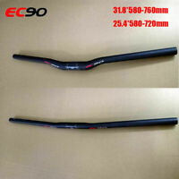 EC90 Carbon Mountain Bike Flat/Rise Handlebar MTB Bar 31.8/25.4mm Bicycle Parts