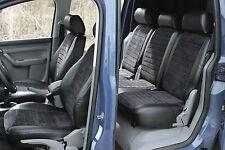 VW Touran 2003 - 2010 Passform Sitzbezüge Schonbezüge Schwarz Kunstleder Velour