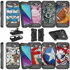 For Samsung Galaxy J3 Emerge   Galaxy J3 Mission Dual Layer Case Animal Designs