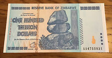 Zimbabwe Banknote. 100 Trillion Dollars. Uncirculated. Harare 2008, P91.