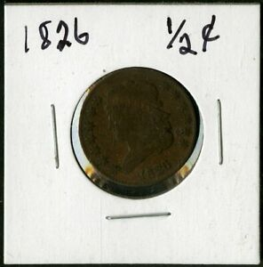 US Coin 1826 Classic Head Half Cent NO RESERVE!